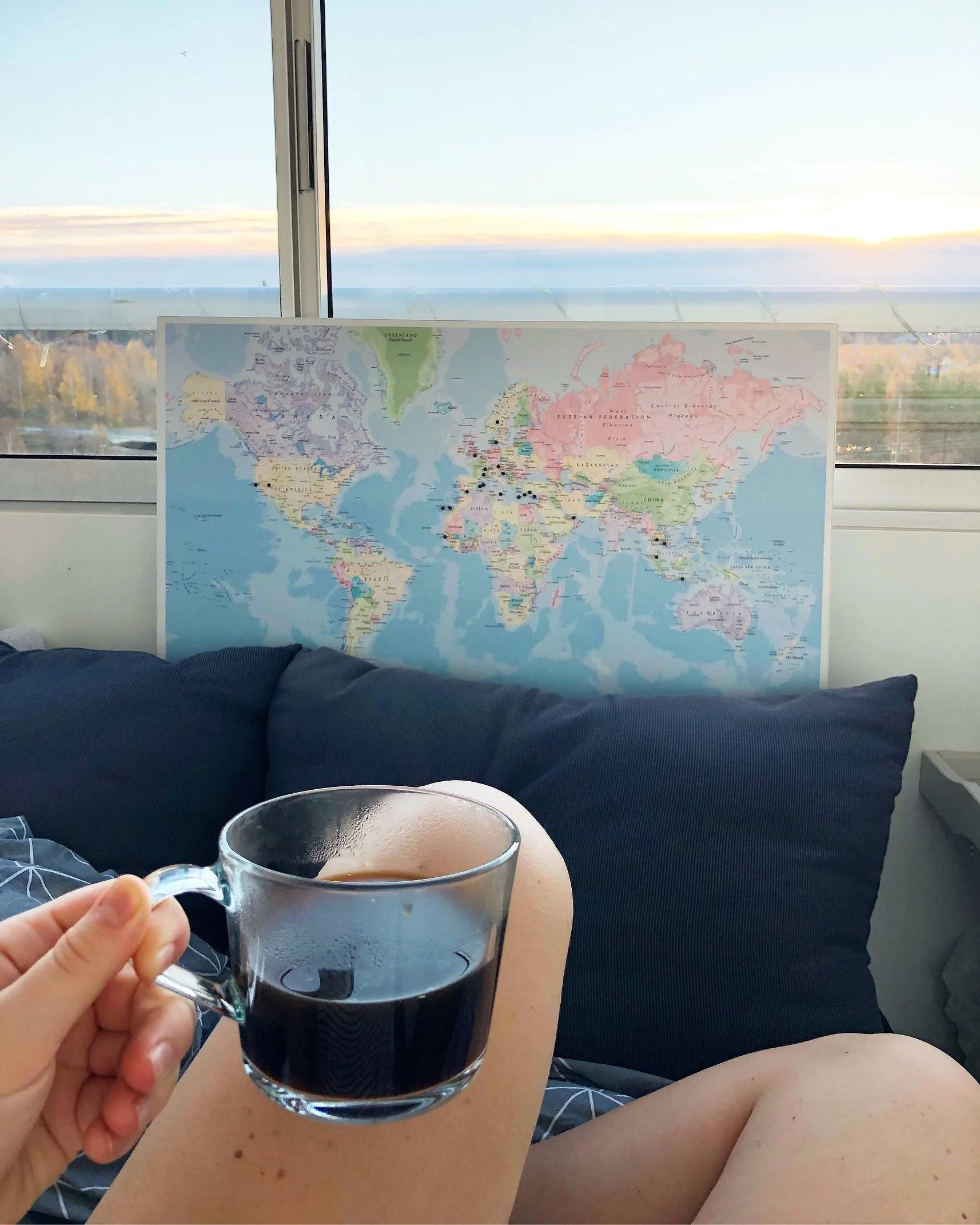 De här länderna/platserna har jag besökt i mitt liv!