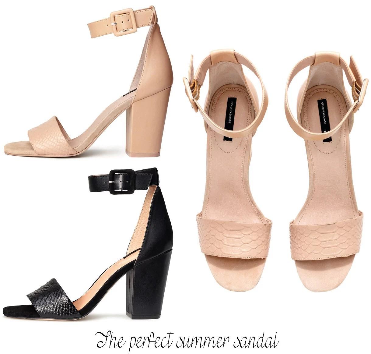 Sommersandaler, Sommer, Sandaler, Mode, H&M sandaler, H&M, Aalborg modeblogger, Aalborg blog