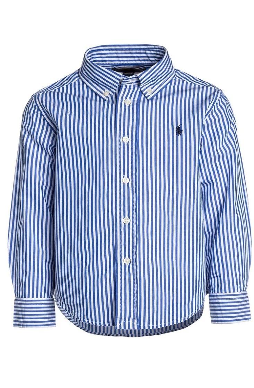 Blå/vit randig skjorta