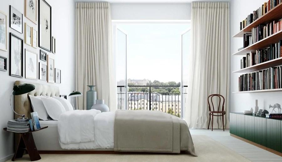 gardiner och sänggavel