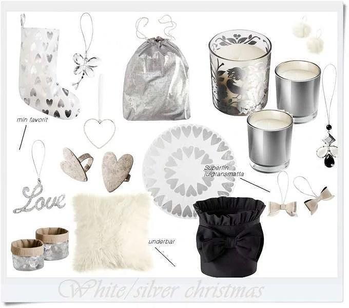 Silver & white