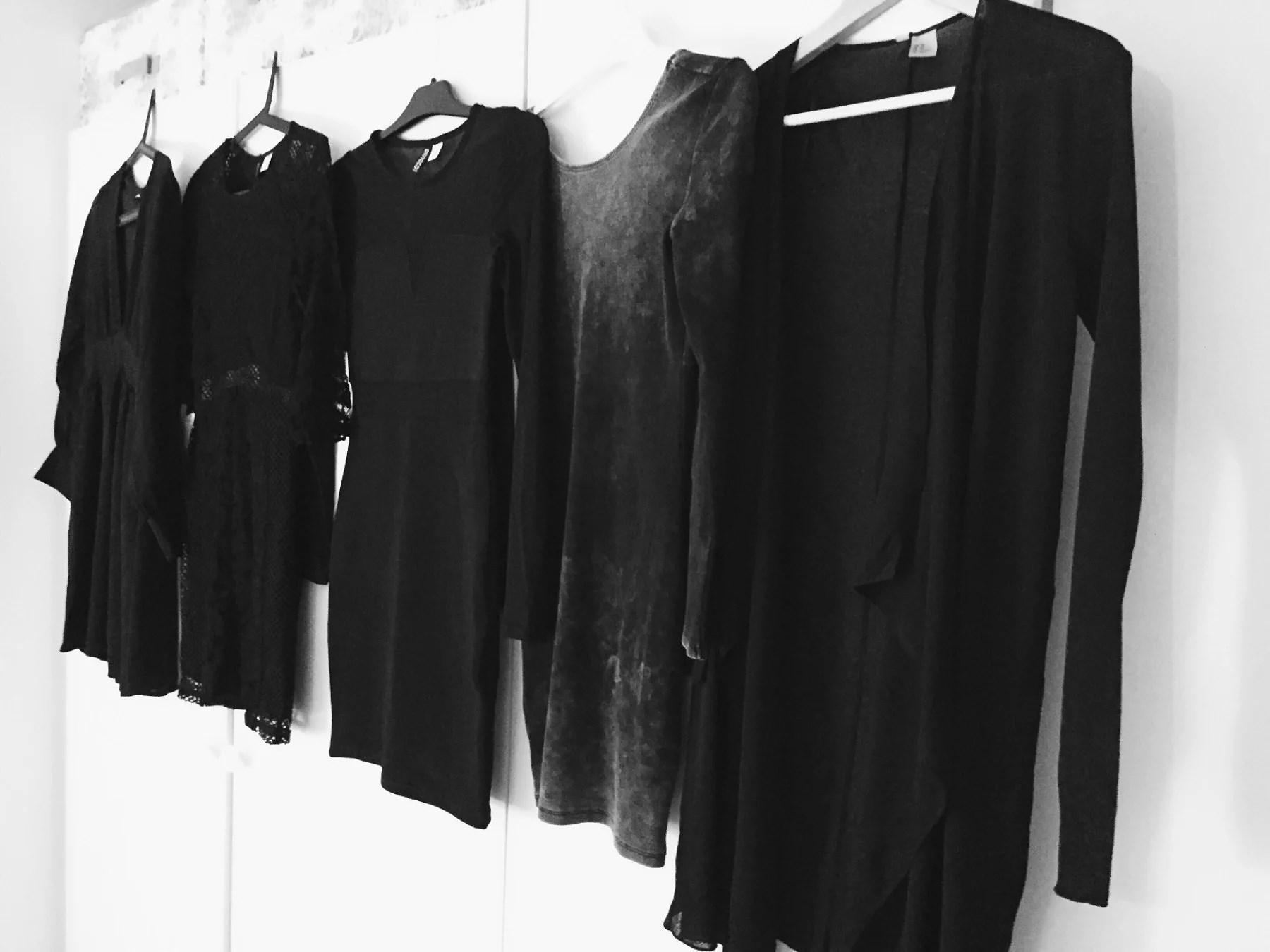 50 shades of black dresses...