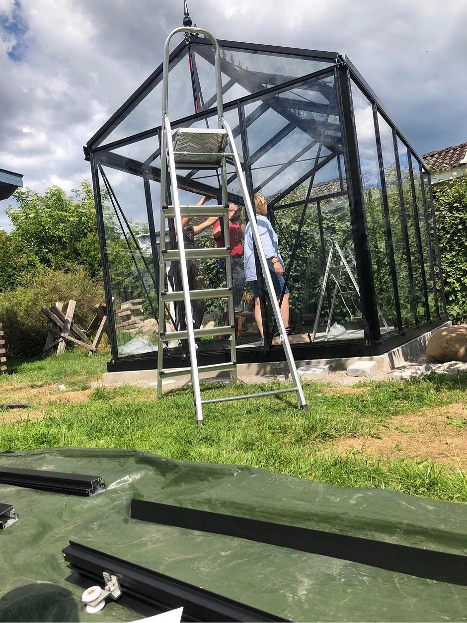 Bygga växthus & råka äta fisk!!!