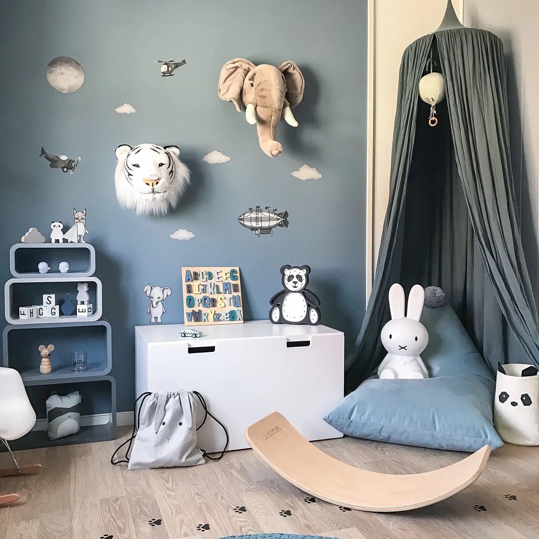 Nye farger på barnerommet.