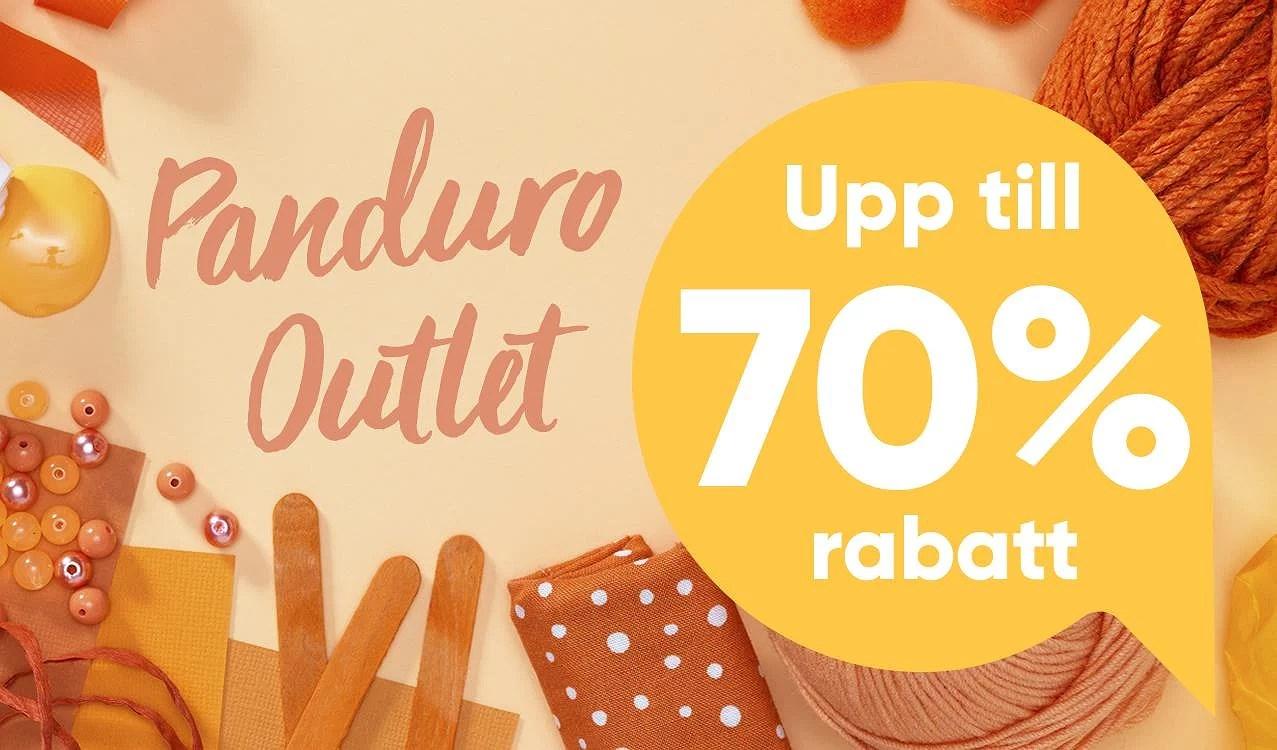 Panduro Outlet! upp till 70% hos Panduro Outlet! Ladda för en kreativ höst och vinter!
