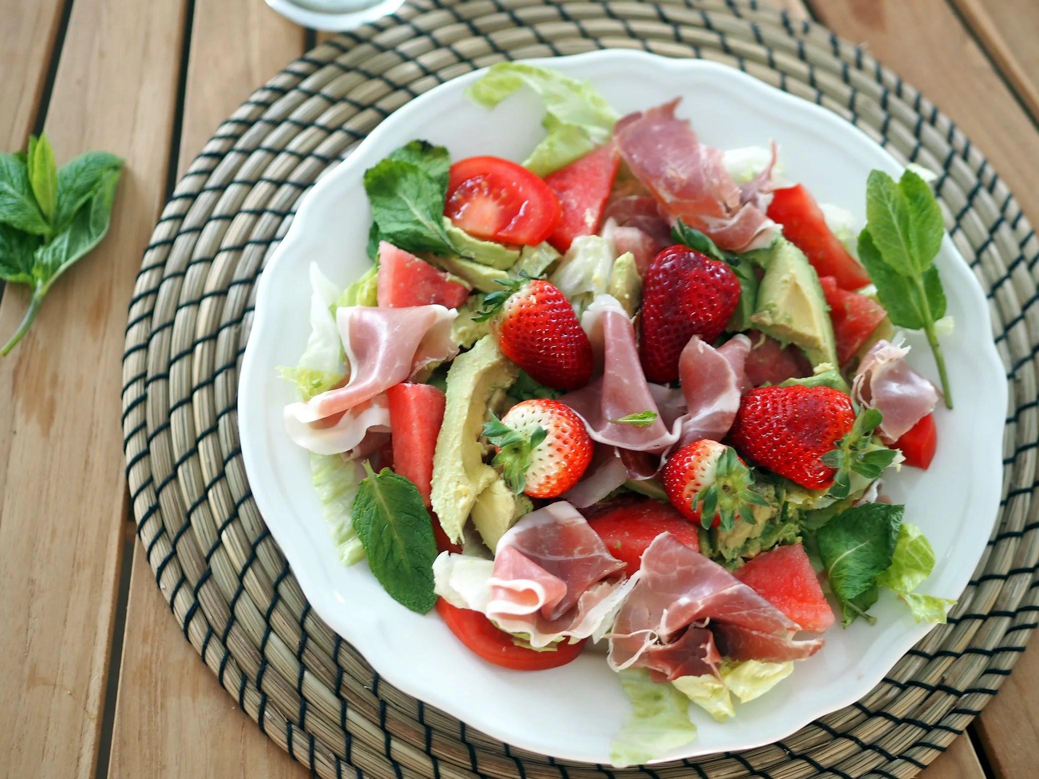 en sommerlig salat i april