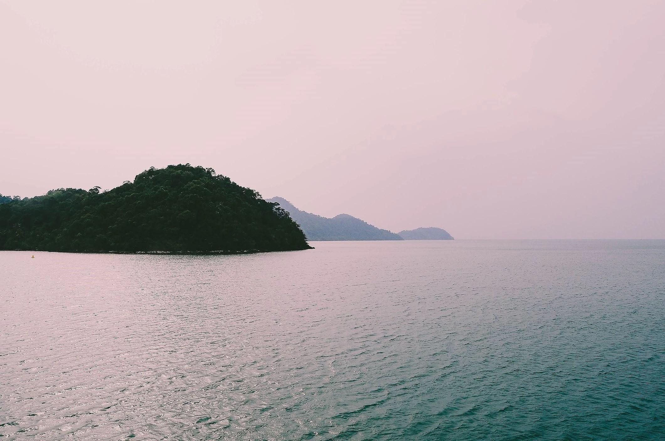På väg till Koh Chang, Thailand