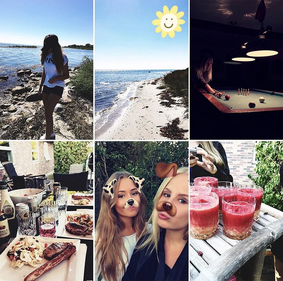 Weekenden gennem Snapchat