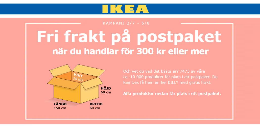 Gratis frakt hos IKEA