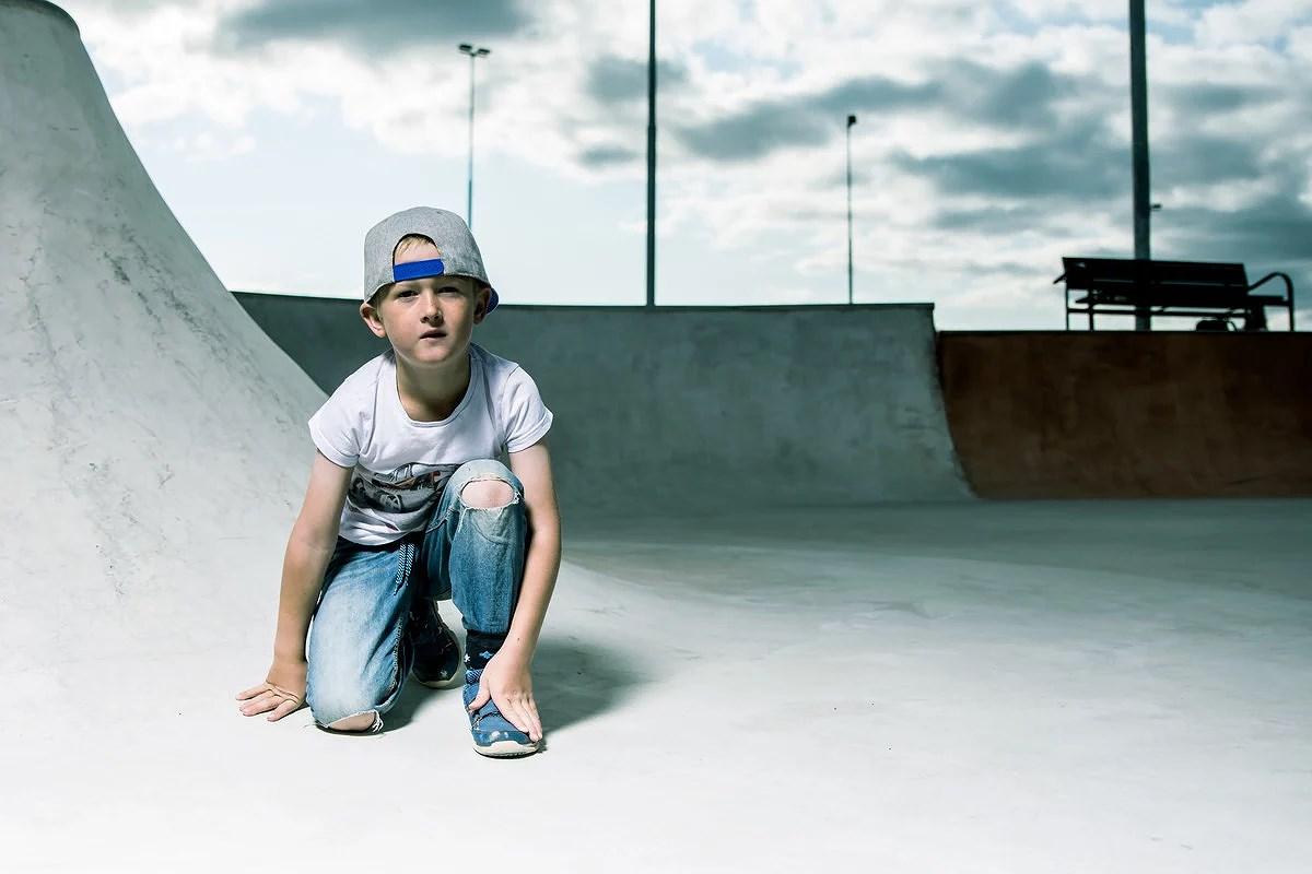 Casper i Skateparken.