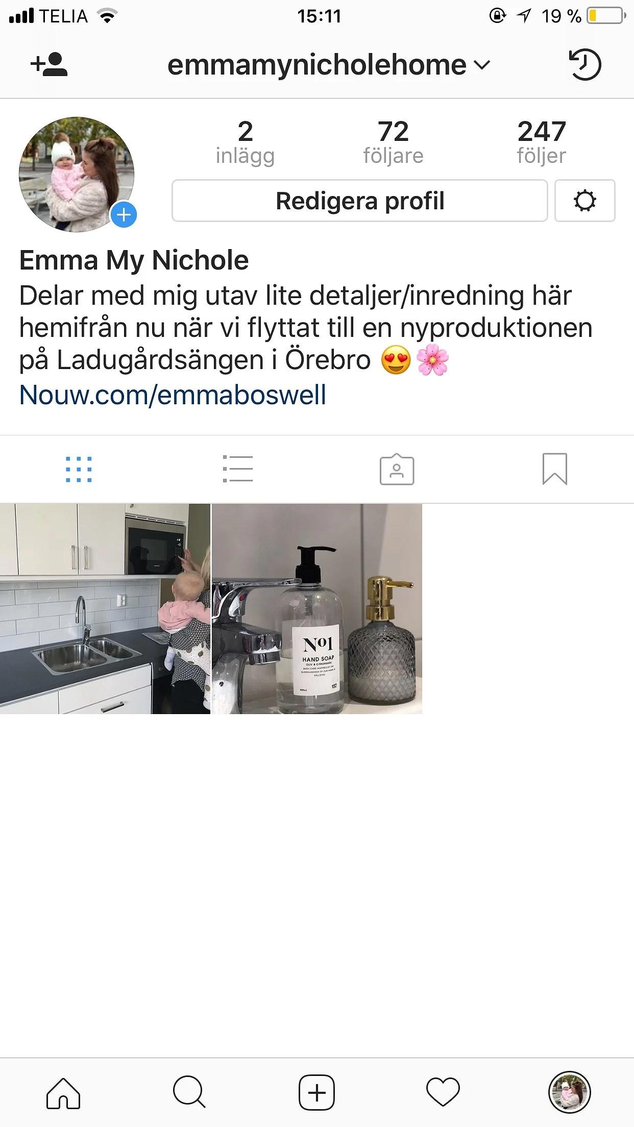 Följ mig/oss på Instagram