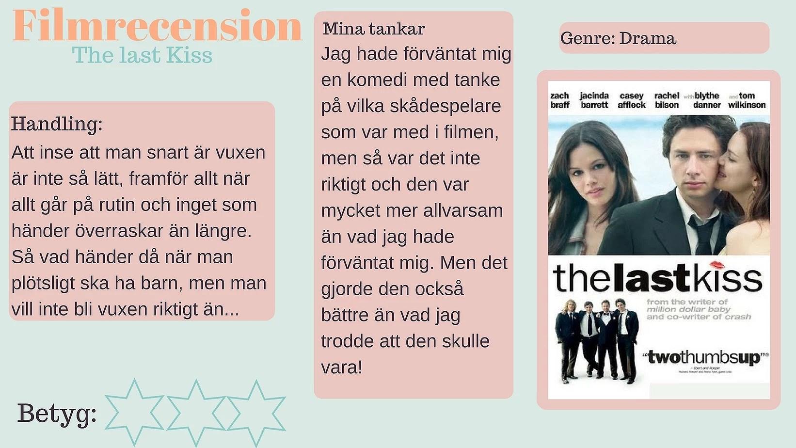 Filmrecension - The Last Kiss