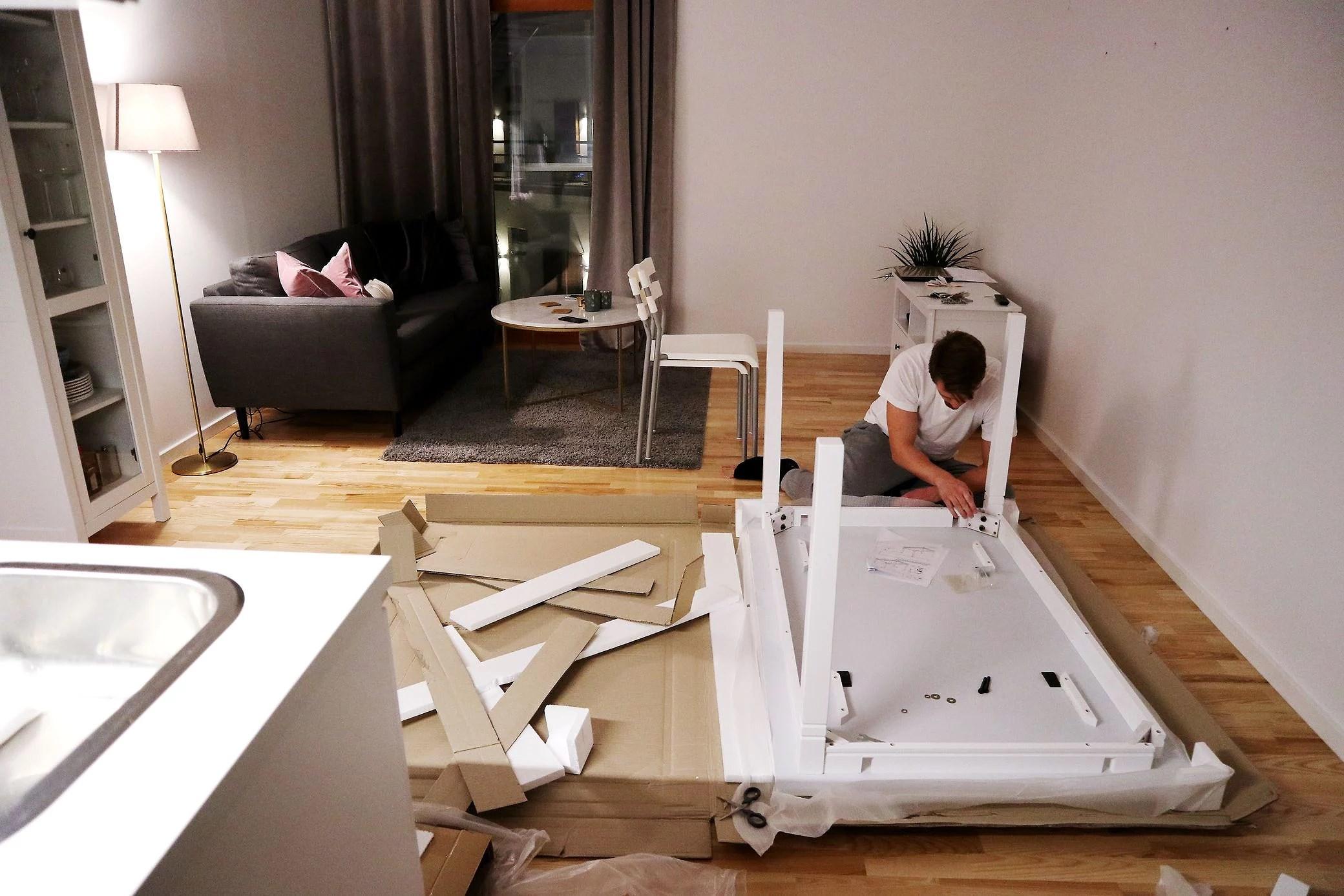 Möbelbygge, ett halvår och träning