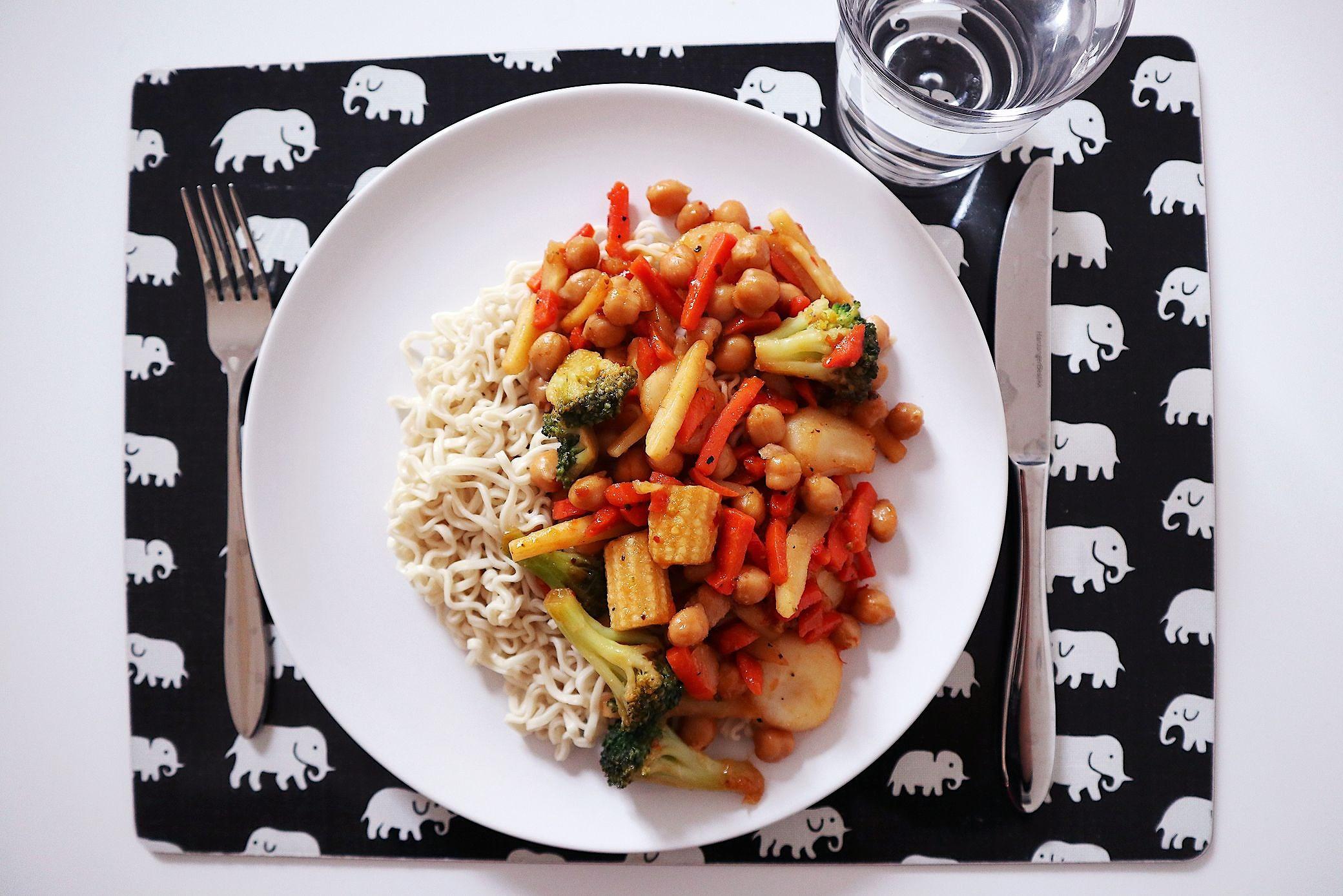 Snabbmat - vegetarisk wok