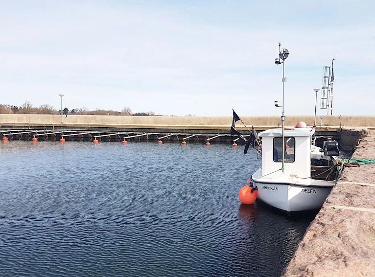 Abbekås hamn, fiskebåt
