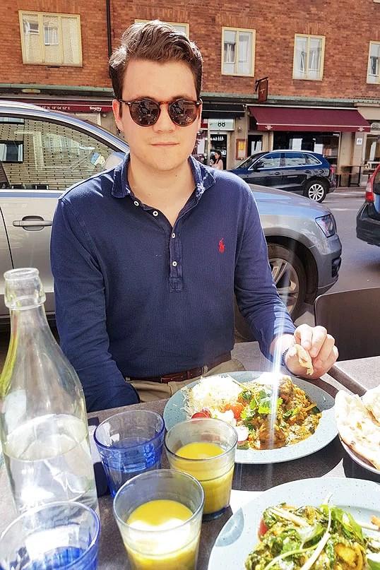 Ludvig en sommardag i Stockholm
