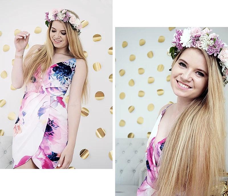 krist.in flower crown summer dress romwe