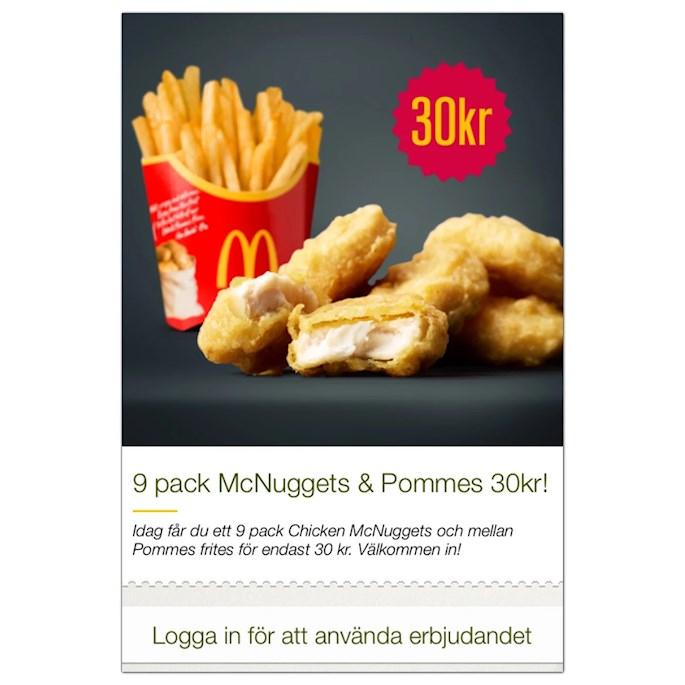 mcdonalds app erbjudande