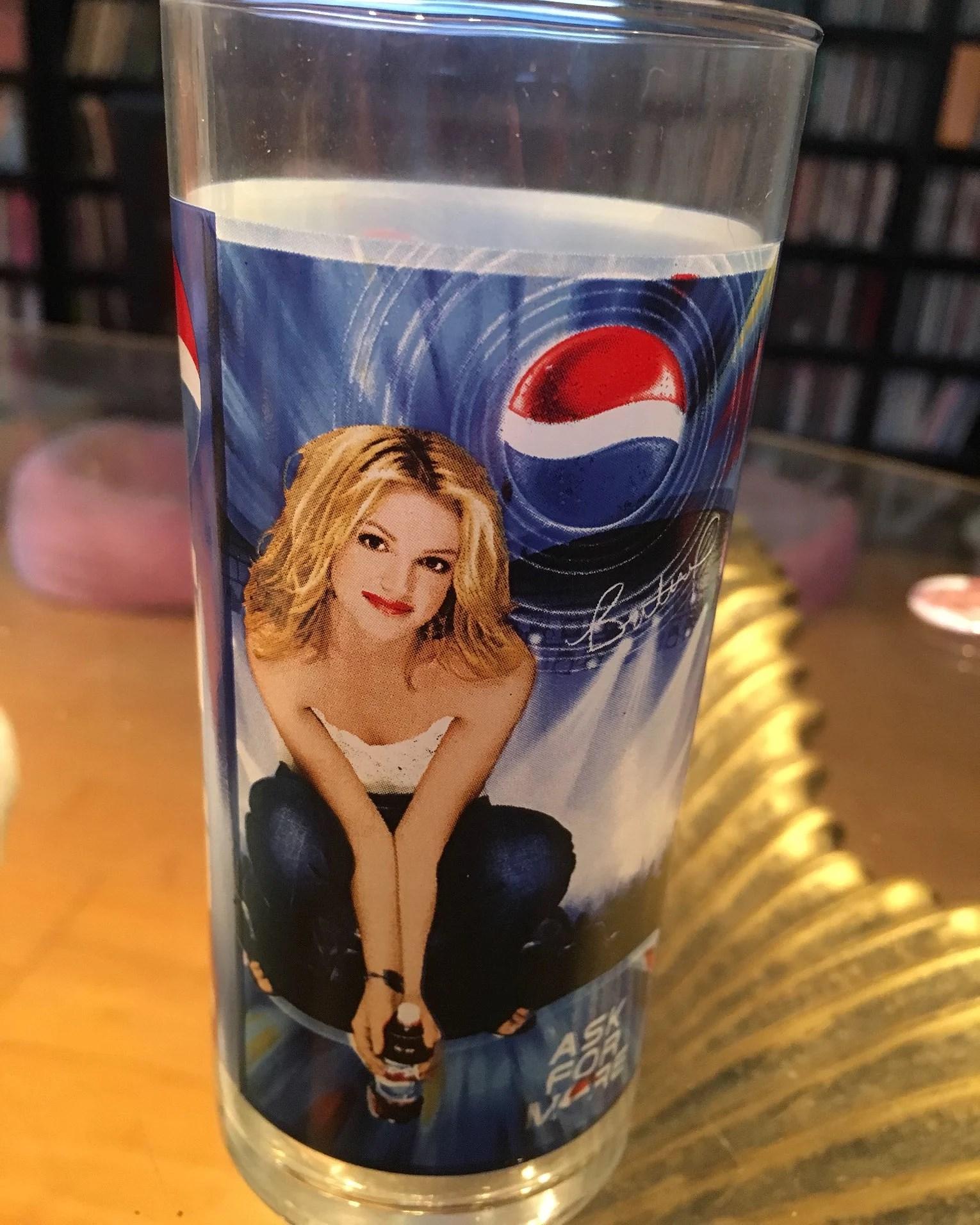 Pepsi glas med Britney