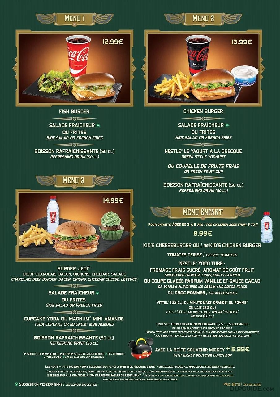 Uppdaterad meny på Café Hyperion på Disneyland Paris