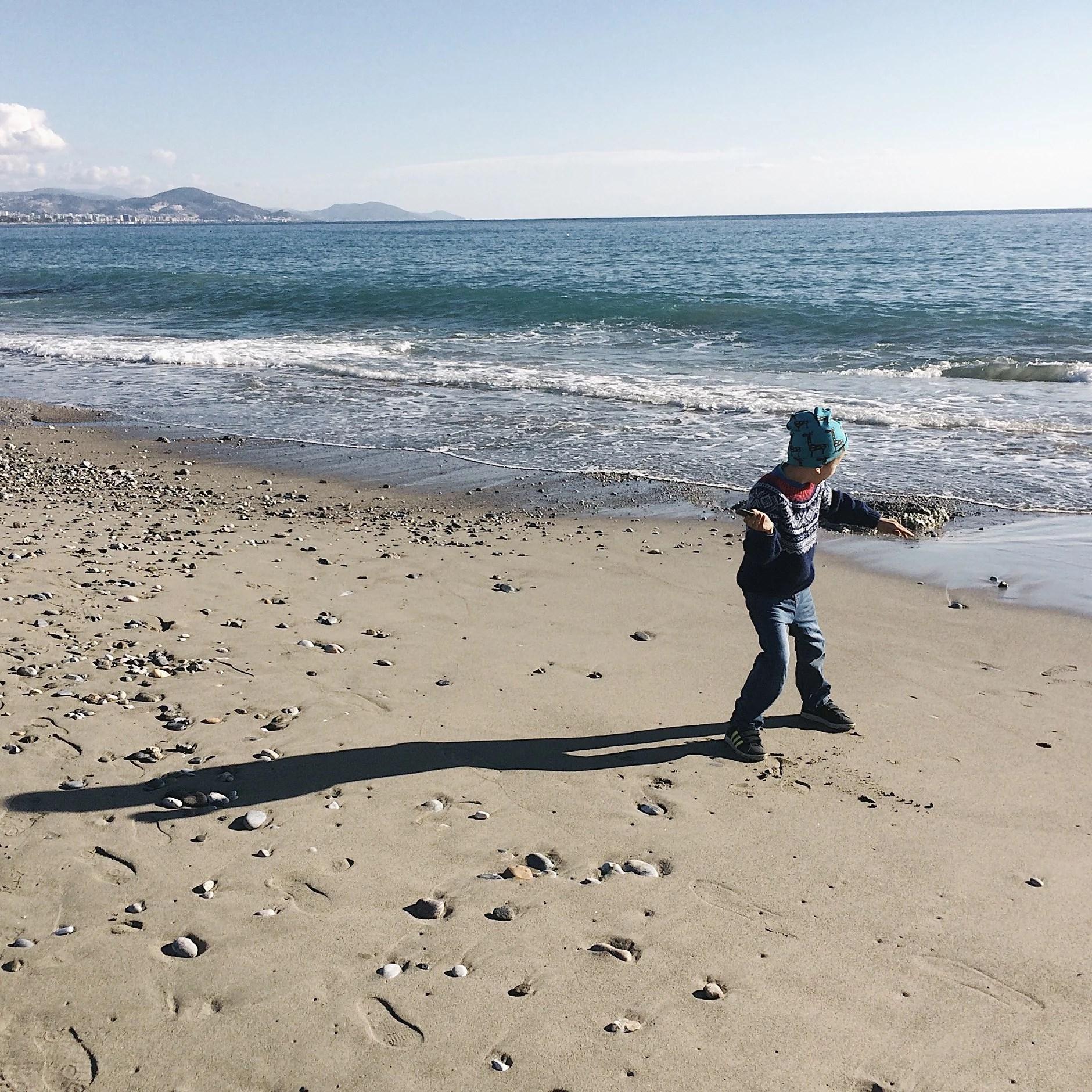 En vinterdag på stranden