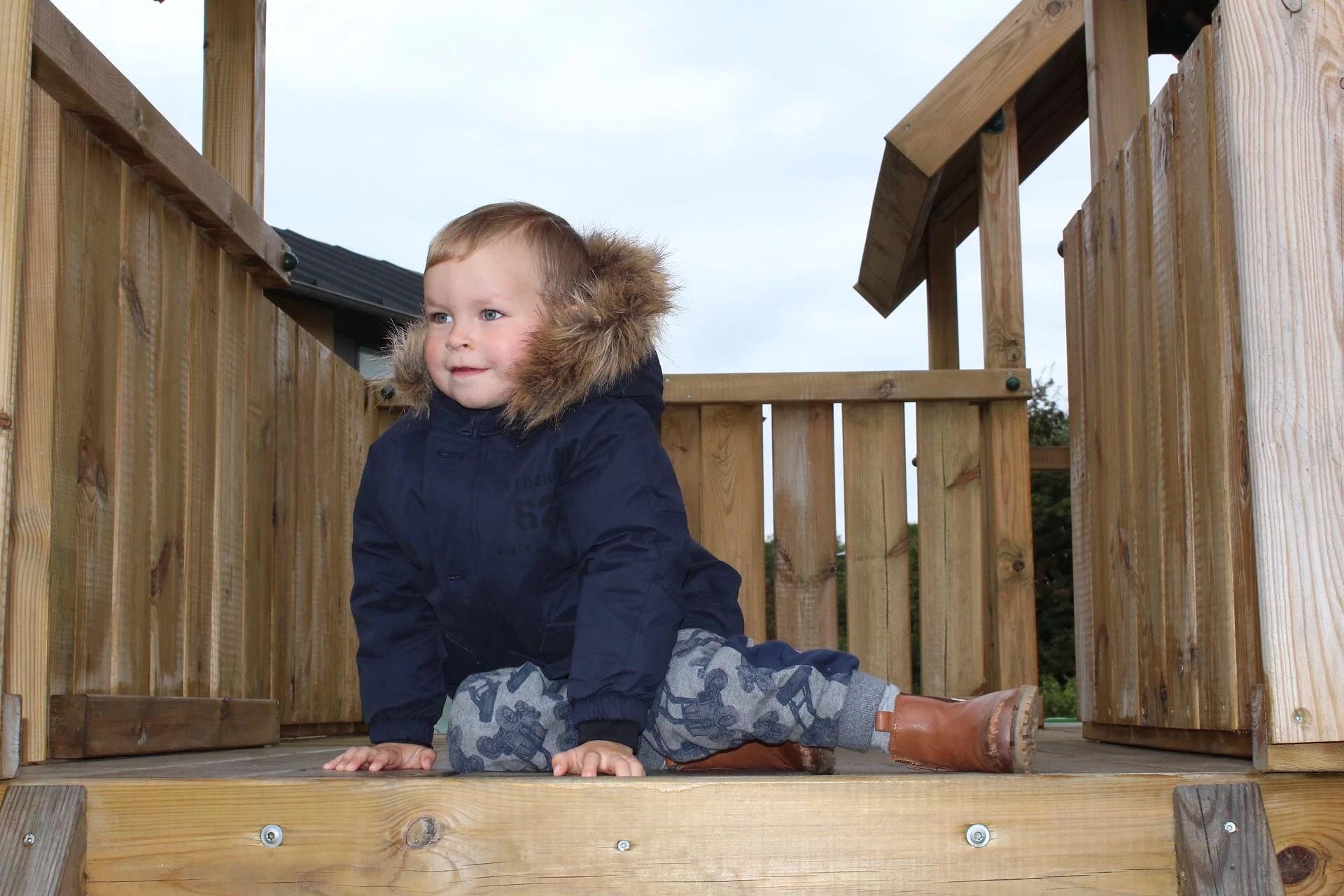 Vinterklar - Lucas nye jakke og støvler