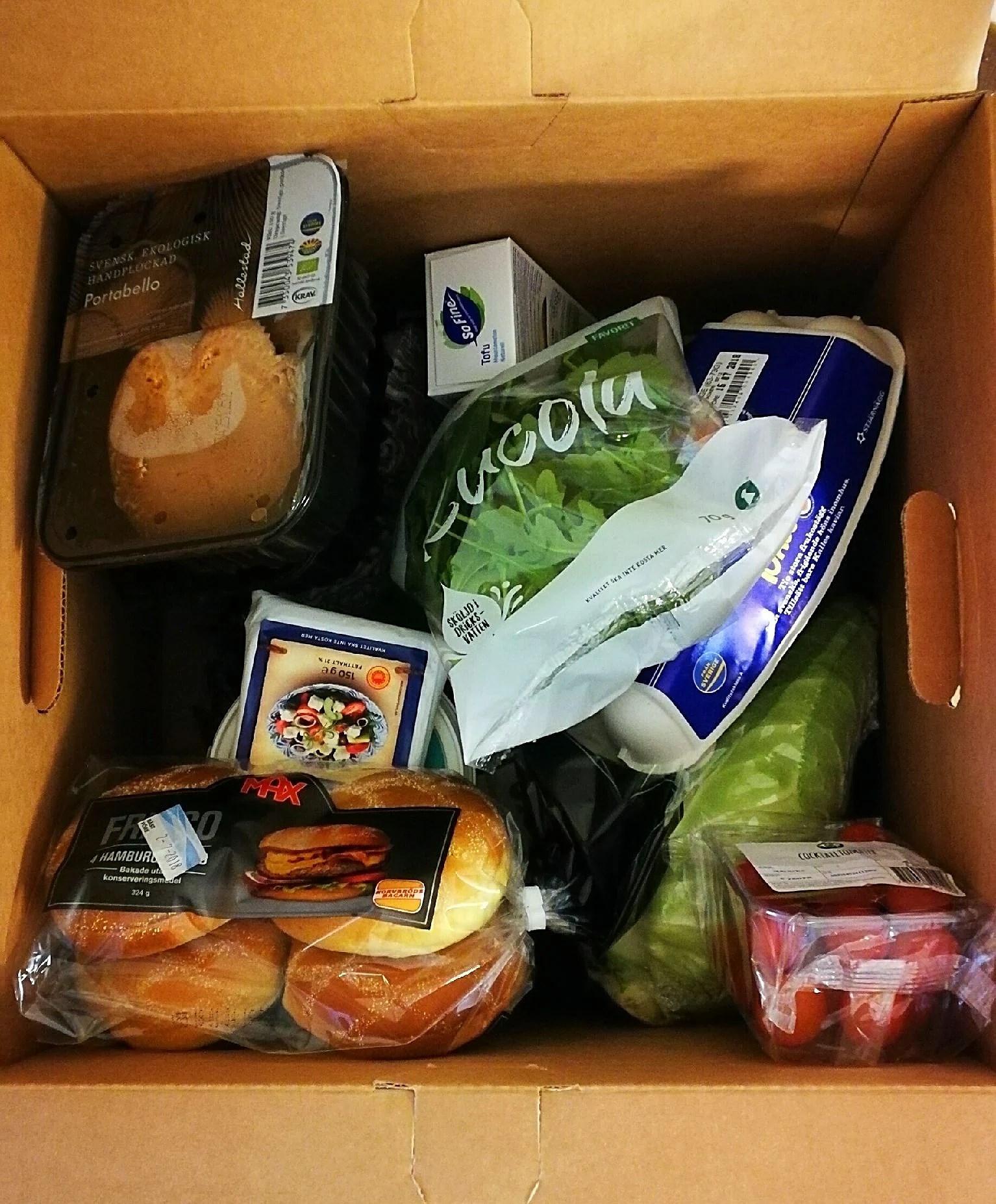 Mat både hämtad och en ny beställning...