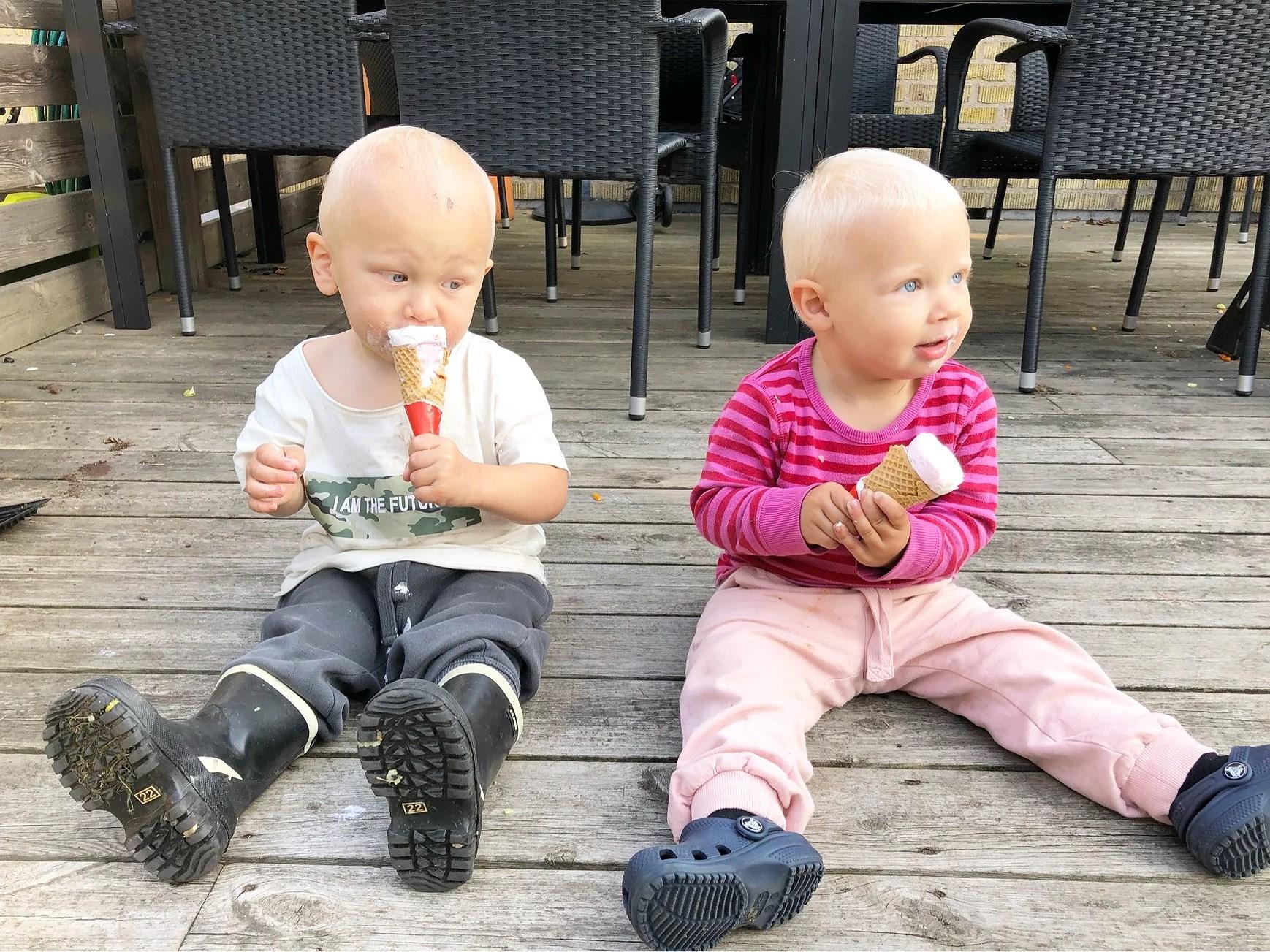 Glass efter maten
