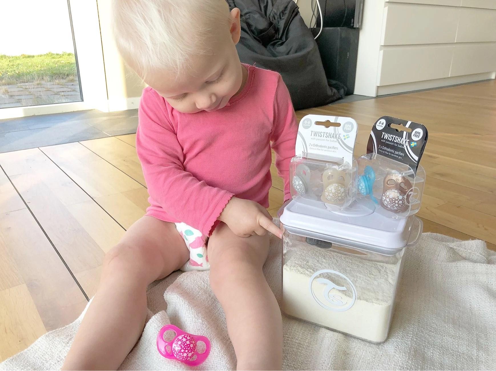 Hygieniskt pulverbehållare
