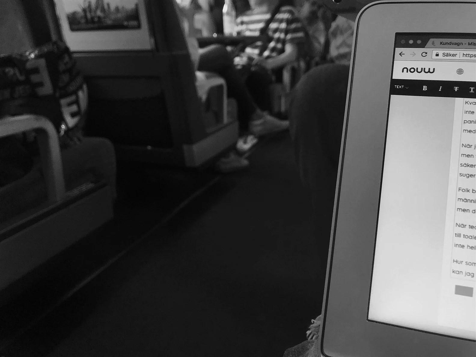 Panikattack på tåget