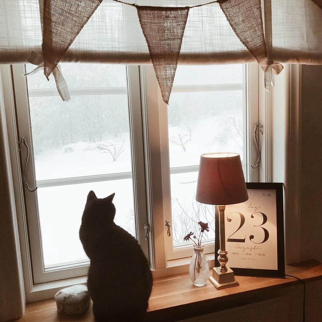 Ute faller snön