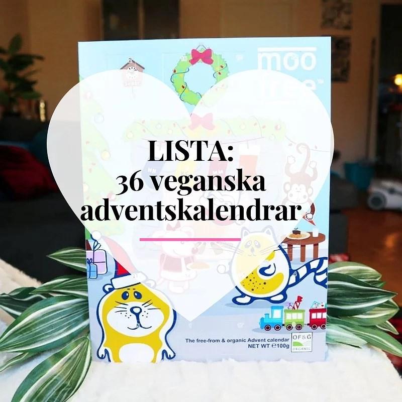 36 Veganska adventskalendrar 2018 Lista (Vegan Advent Calendar List)
