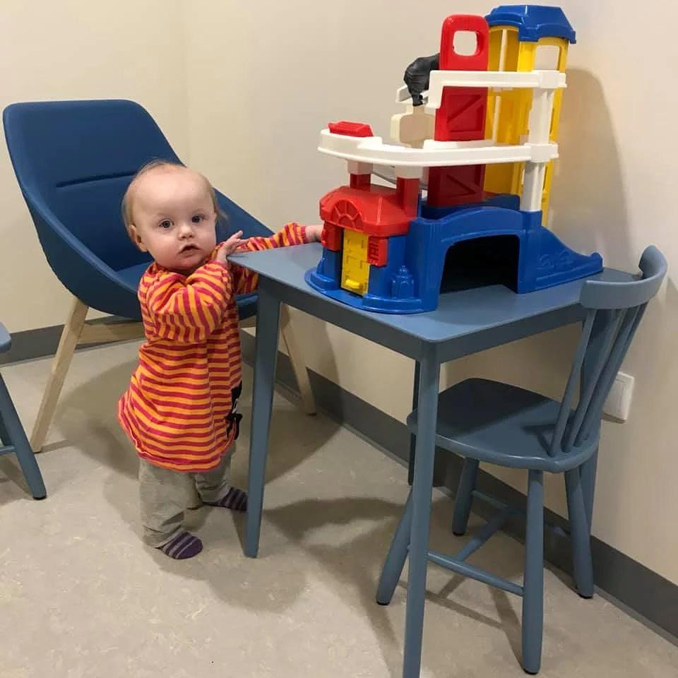 Ninja på återbesök på barnmedicin