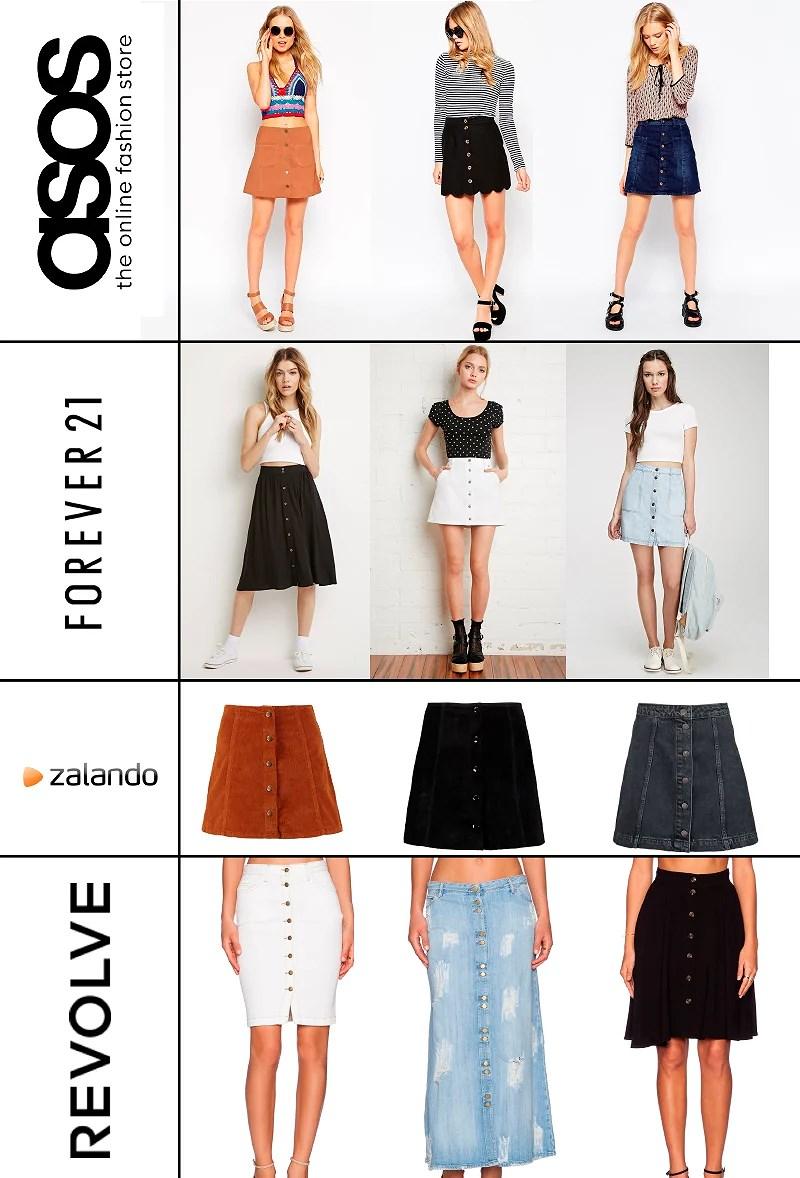 Tendencias Verano 2015 - Button Skirt