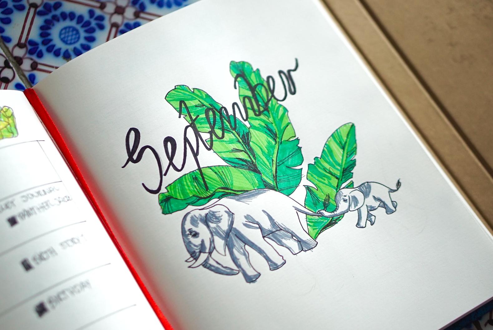 Bullet Journaling: September Pages