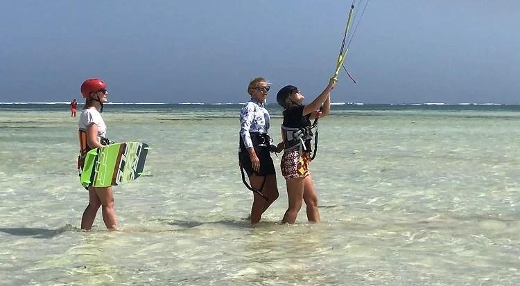 Kitesurfning dag 2