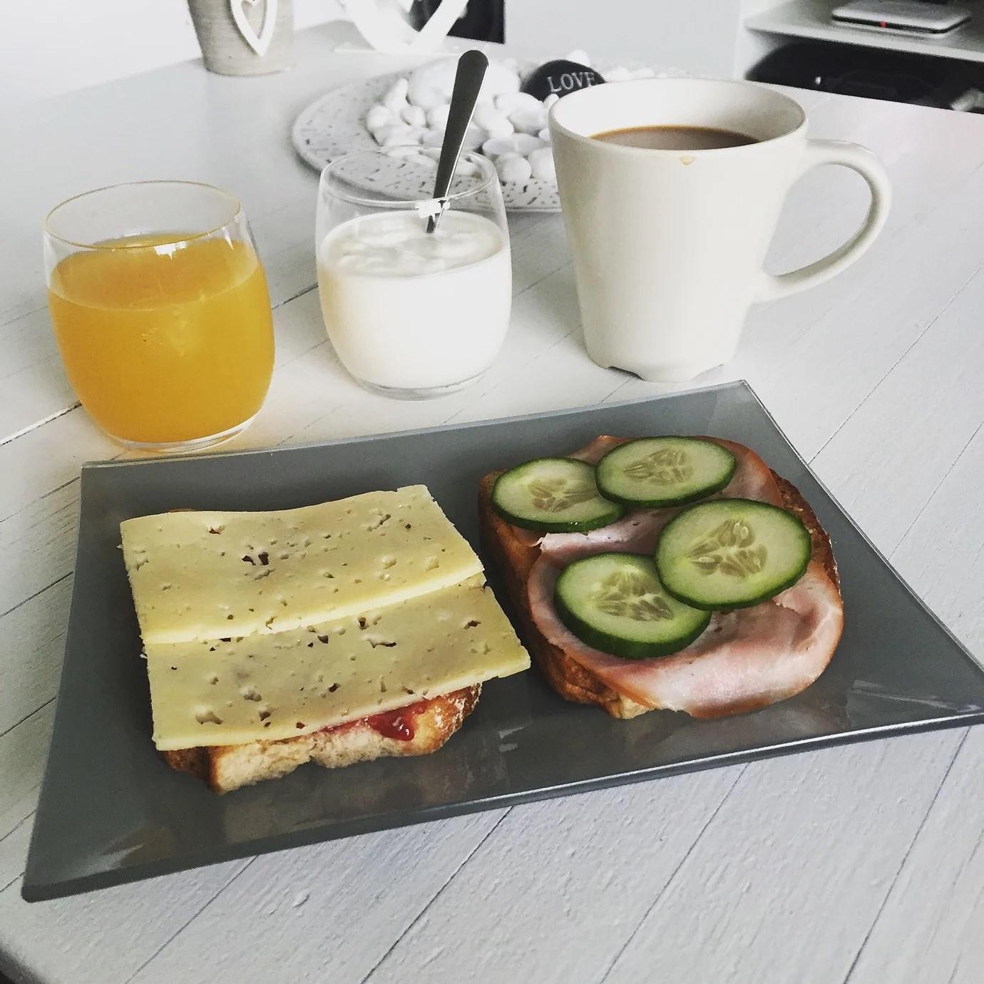 Mysig frukost en sen morgon.
