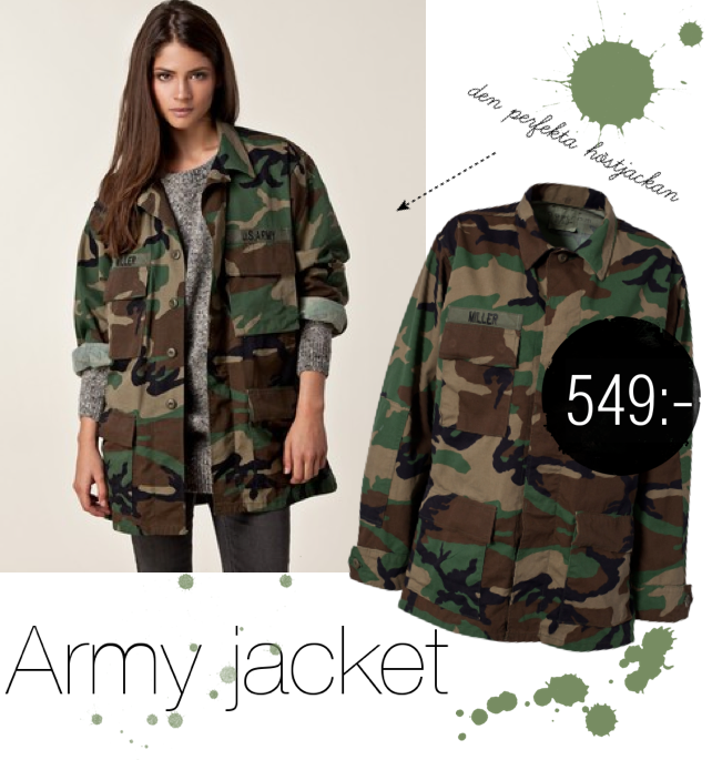 SHOP THE TREND - ARMY JACKET