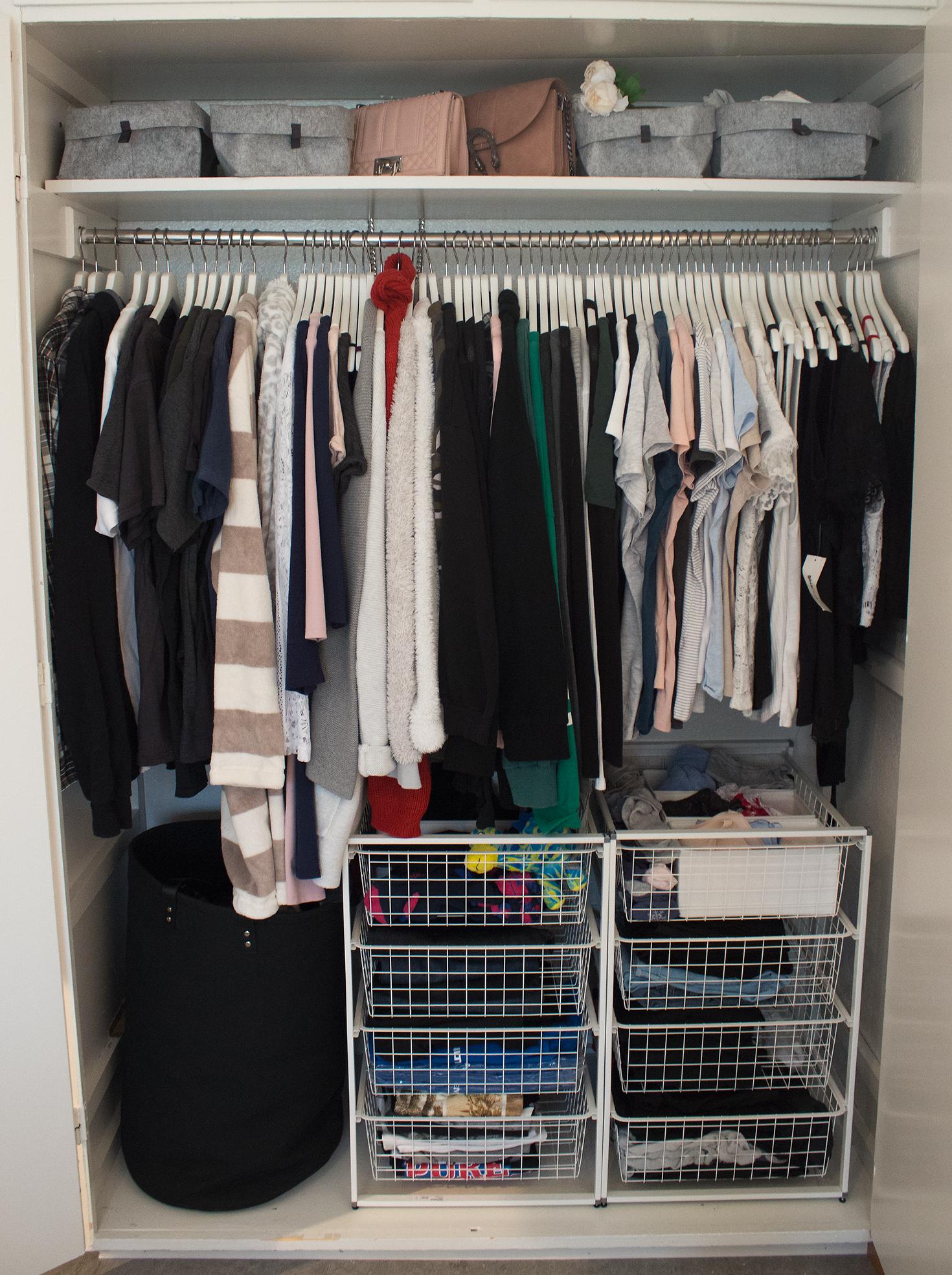 Organiserat garderoben