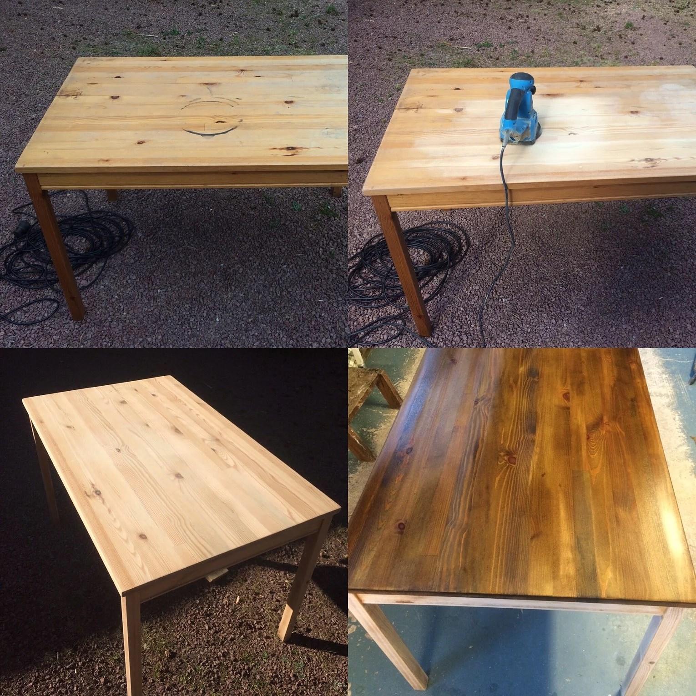 lacka bord och stolar