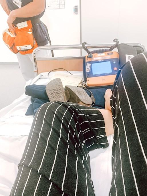 När jag låg inne behövde hjärtstartare vara med överallt samt en sjuksköterska och medicin om hjärtat skulle stanna.