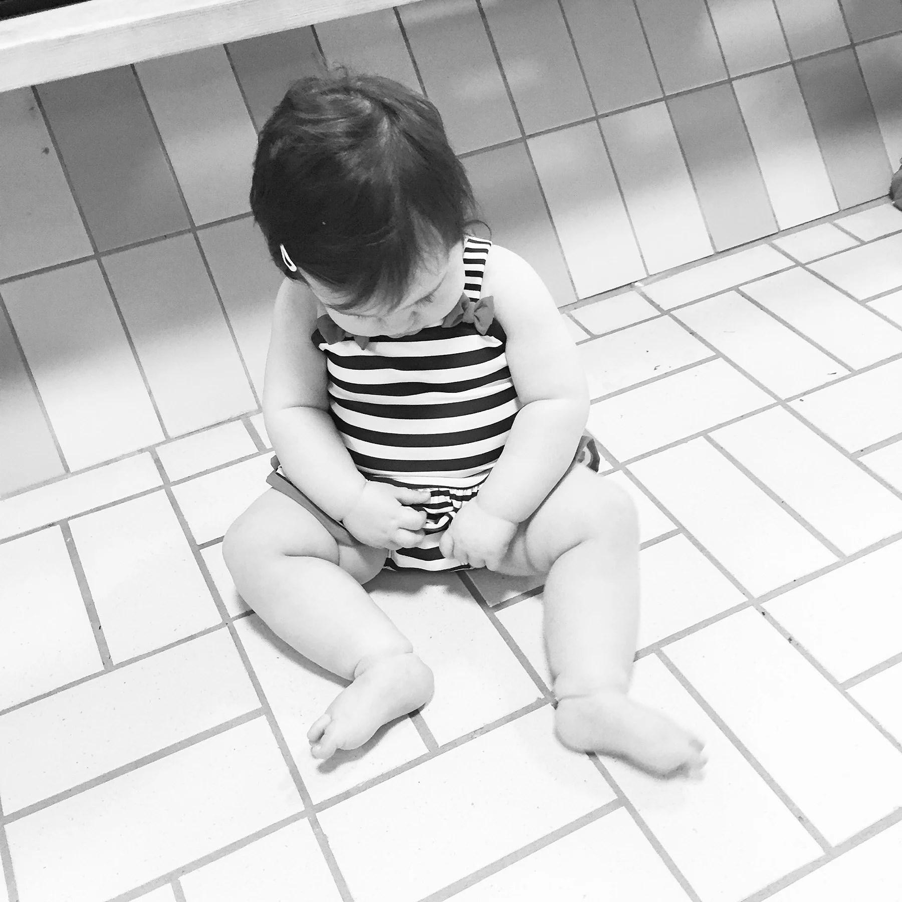 Första besöket på badhuset