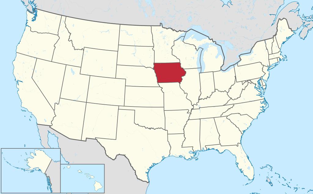 Allmänbildning: Amerikanska delstater: Iowa, Missouri, Arkansas