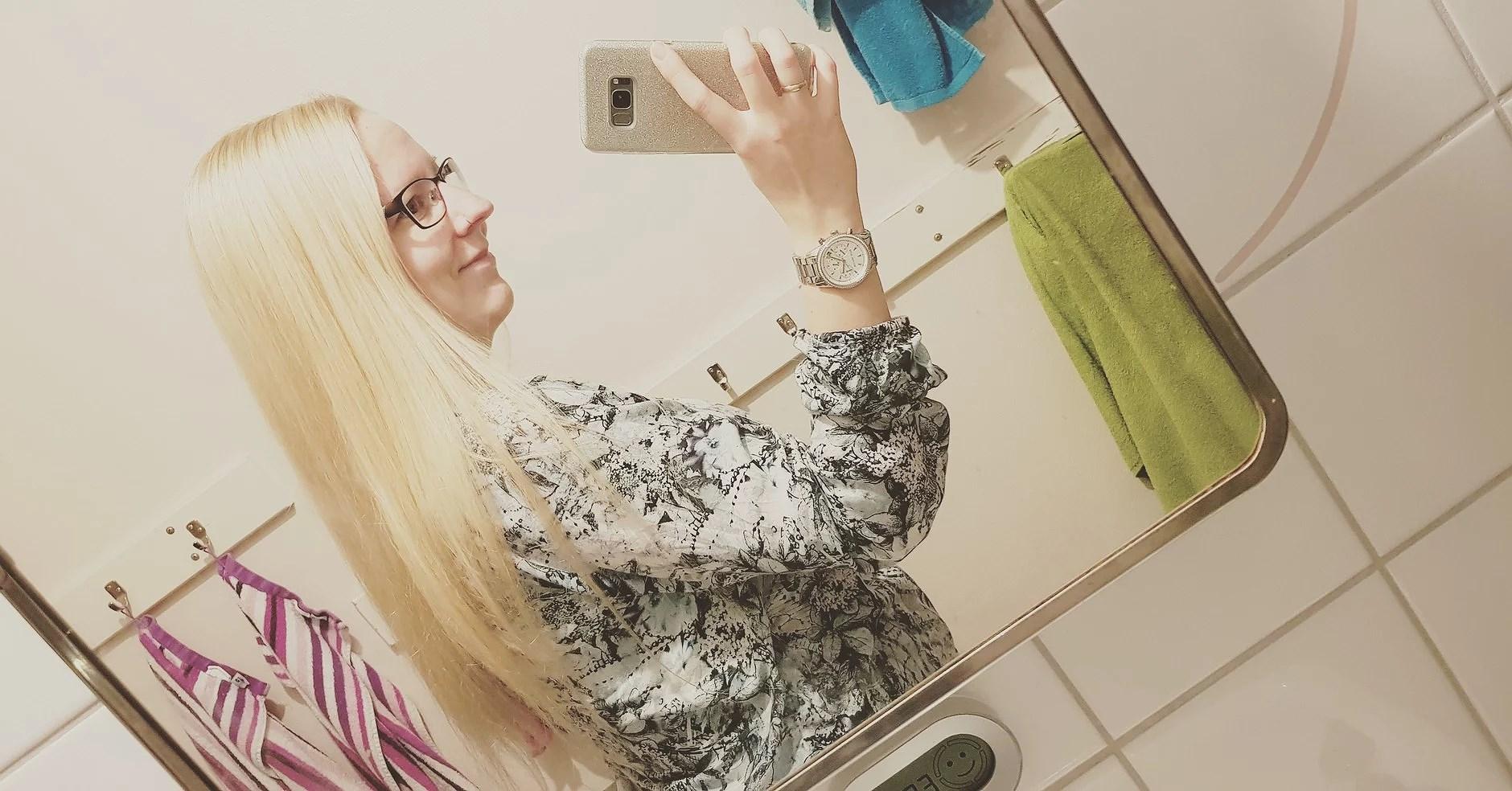 Det blev en blondin av hon idag med 💛