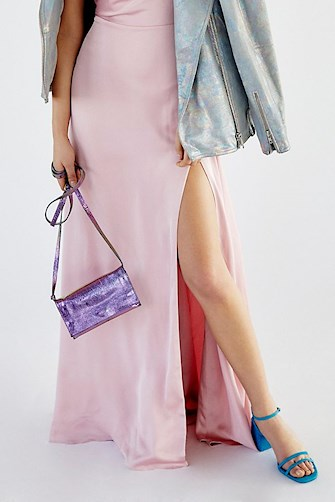 PINK BAG FREE PEOPLE ZUKI METALLIC