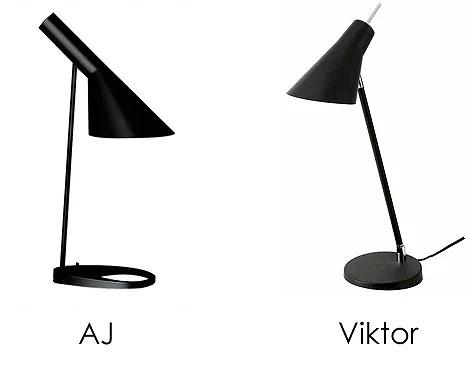 AJ bordslampa från Louis Poulsen, design Arne Jacobsen Kopia