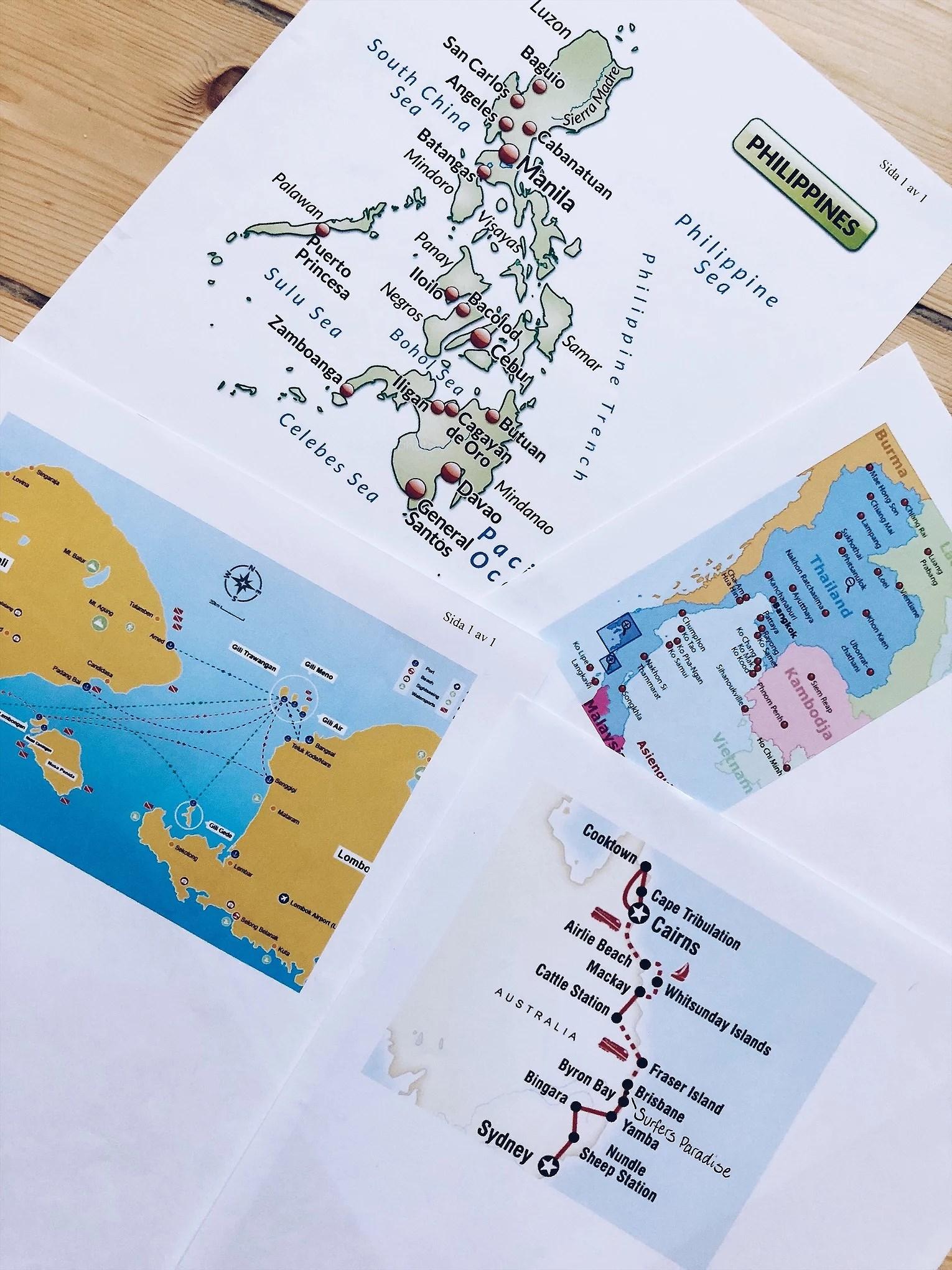 Resrutt för Asien och Australien