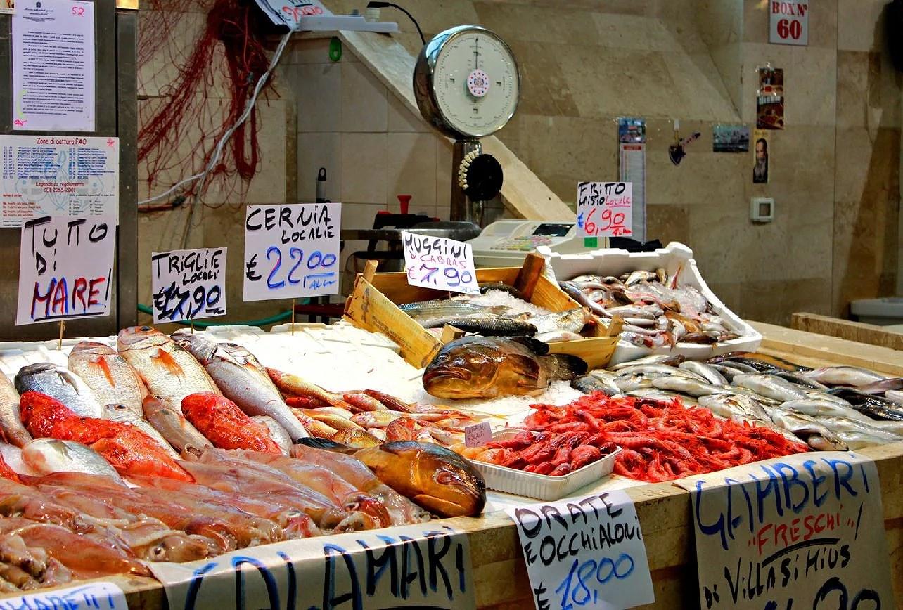 Mercati del pesce in Sardegna, fiskmarknader i Sardinien