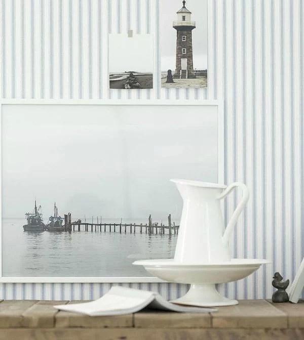 Deco: viste tus paredes con papel pintado de rayas