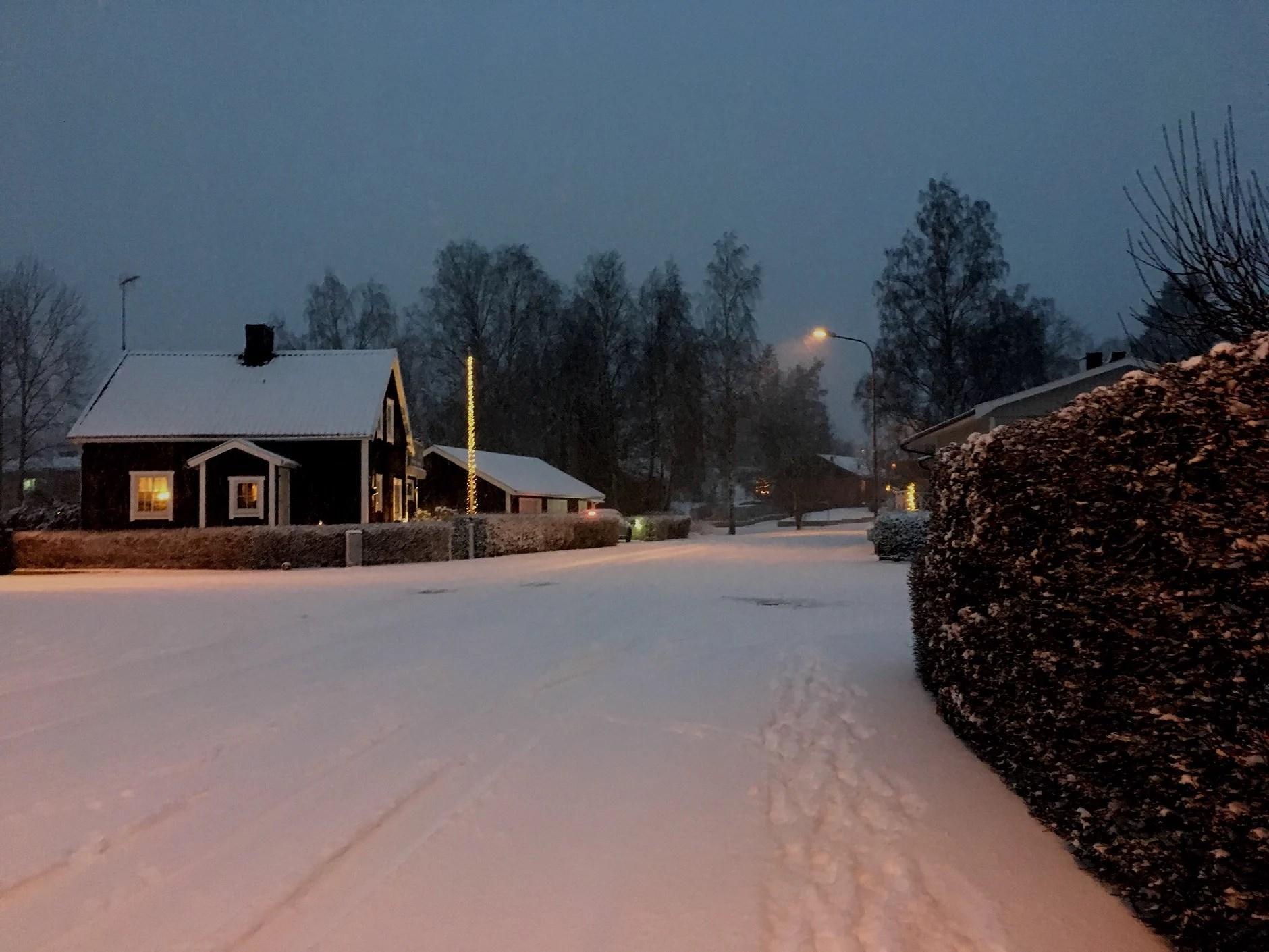 En snöig morgon